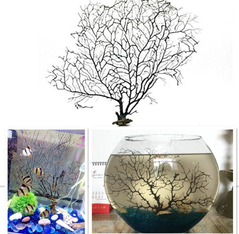 Black sea fan tree fish tank aquarium landscape sea plant for Fish tank tree