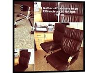 Executives Leather brown office chairs