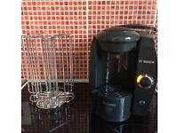 Tassimo drinks maker with pod holder