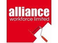 Painters & Decorators required - £14 per hour – Peterborough – Call Alliance 01132026050