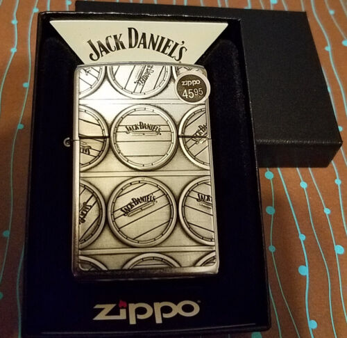 ZIPPO 29817 Jack Daniels Surprise Emblem Street Chrome NEW Windproof Lighter