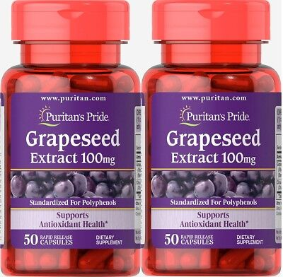 #1 BEST GRAPESEED EXTRACT 100MG HEART ANTIOXIDANT HEALTH SUPPLEMENT 100