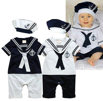 Baby Boy Girl Halloween Sailor Nautical Fancy Party Costume Outfit Clothes Dress - Nautical Baby Girl Clothes