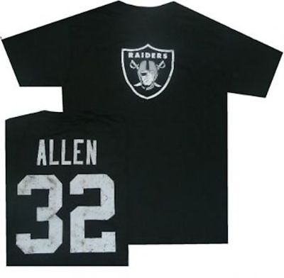 - Oakland Raiders Marcus Allen Throwback Distressed Reebok T Shirt  Clearance!