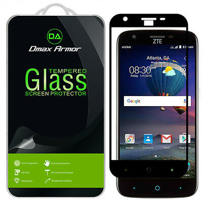 Dmax Armor ZTE Grand X3 Tempered Spyglass Full Cover Screen Protector -Black