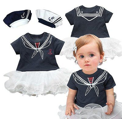 Baby Girl Halloween Sailor Nautical Fancy Party Costume Outfit Cloth Tutu Dress - Nautical Baby Girl Clothes