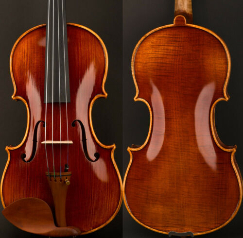 "5Star Master Antique Stradivari Style 15"" Viola Top European Wood Open Deep Tone"