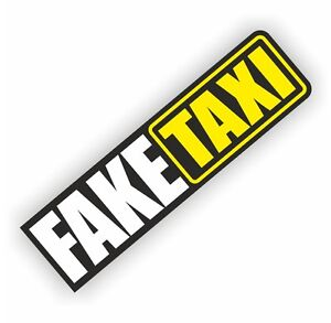 fake taxi shocker autoaufkleber tuning sticker dub decal