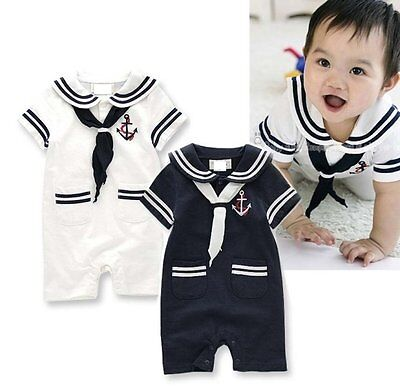 Baby Boy Girl Sailor Nautical Halloween Fancy Dress Costume Outfit Clothes Suit - Nautical Baby Girl Clothes