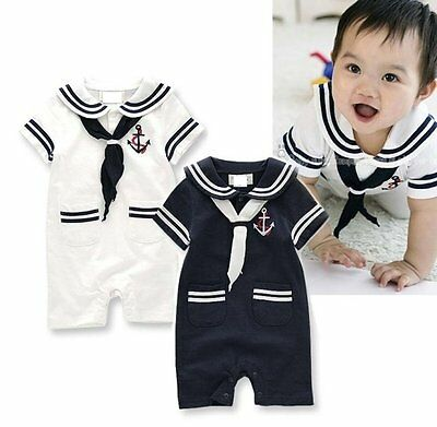Baby Boy Girl Sailor Nautical Carnival Fancy Dress Costume Outfit Clothes Suit - Nautical Baby Girl Clothes