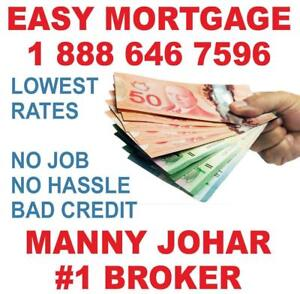 EMERGENCY MORTGAGE LOANS FOR HOMEOWNERS - EASY APPROVAL - BAD Credit, Bankruptcy, NO HASSLE! #1 Broker IN ONTARIO!