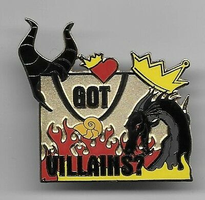 DISNEY GOT VILLAINS? MALEFICENT HORNS DRAGON EVIL QUEEN CROWN URSULA PIN LE 300