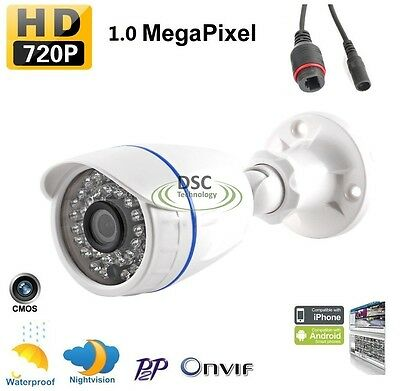 720P POE IP Camera in/outdoor HD Network onvif security night vision 30IR -