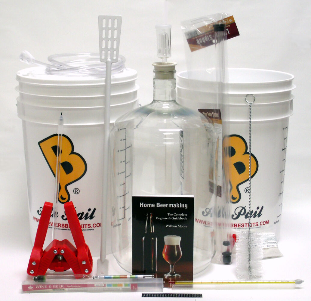 $98.95 - Brewer's Best DELUXE Beer Making Home Brewing Equipment Kit With Plastic Carboy