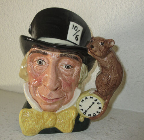 """Royal Doulton 7"""" Mad Hatter Jug - Yellow Bowtie - Ltd. Edition #58 of only 250"""