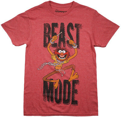 Mens Animal Muppets T Shirt (New Mens 2x  Muppets TV Show - ANIMAL - Beast Mode T-Shirt Funny Character)