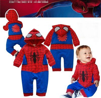 Baby Boy Spiderman Superhero Carnival Costume Outfit Cloth Dress Party - Spiderman Baby Costume