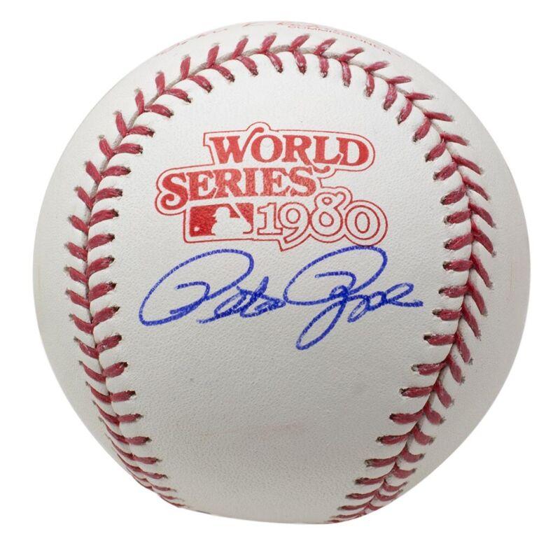 Pete Rose Signed Phillies 1980 World Series Baseball JSA ITP