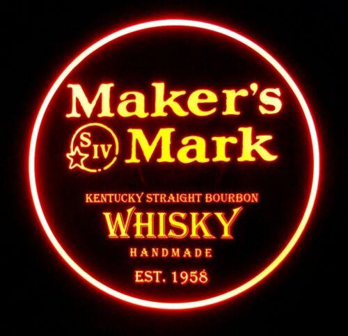 Makers Mark Wkisky LED Sign Personalized, Home bar pub Sign, Lighted Sign