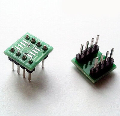 Us Stock 6pcs Sop8 So8 Soic8 To Dip8 Adapter Conveter Welding Completed Wide