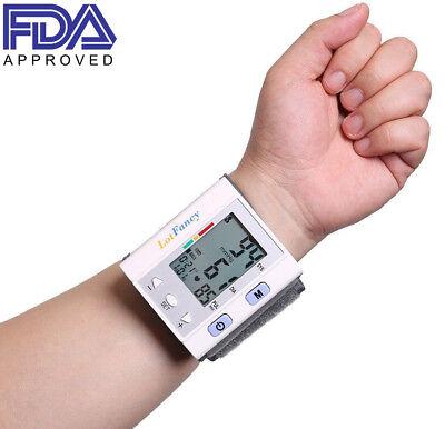 LotFancy Wrist Blood Pressure Monitor BP Cuff Gauge Digital Automatic Machine