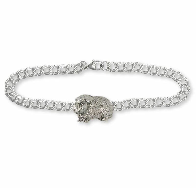 Guinea Pig Bracelet Jewelry Sterling Silver Handmade Piggie Bracelet GP7-2B