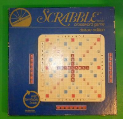 Deluxe Scrabble Turntable Edition Made in USA Selchow & Righter Game Complete