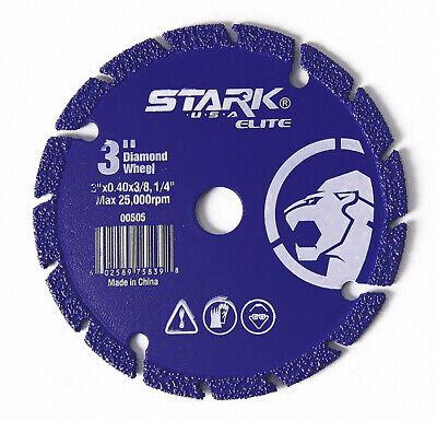 3 Diamond Edge Metal Steel Iron Stainless Cut Off Wheel Abrasive 38 Arbor