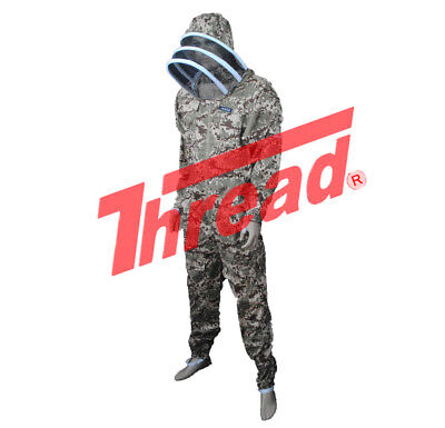 Pro's Choice Best Beekeeping Suit, Camouflage, with Free Gloves  Thread(r) Brand (Make Camo Suit)