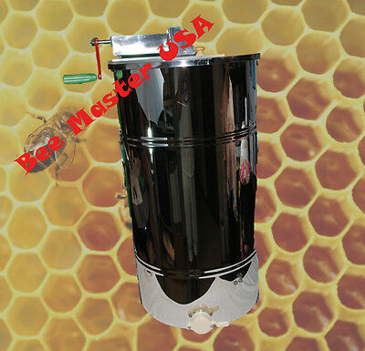 Pro'sChoice Best Honey Extractor 2 Frame Stainless Steel with Plastic Honey