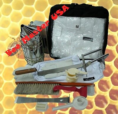 Bee Suitglovessmokerbrushtoolfeedercageholderknifeforkhgate 11 Pcs