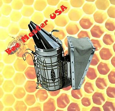 Pros Choice Best Bee Hive Smoker Stainless Steel With Heat Shield Small Size.