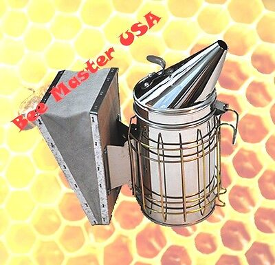 Pros Choice Best Bee Hive Smoker Stainless Steel With Heat Shield Medium Size.