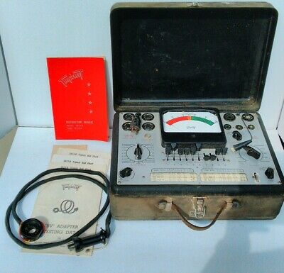 Triplett 3413-b Vacuum Tube Tester With Supplements And Instructions Untested