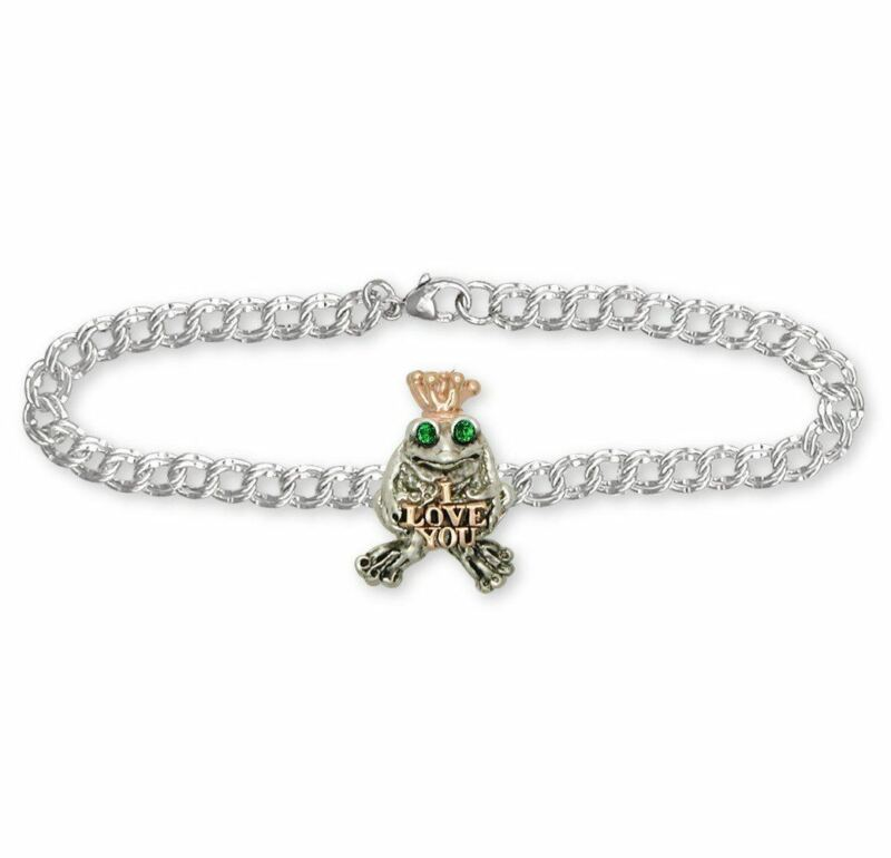 Frog Bracelet Jewelry Silver And Gold Handmade Frog Bracelet FG18-TTB