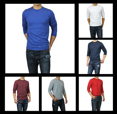 New Abercrombie A F by Hollister Men Moose Creek Long Sleeve T-Shirt Muscle Fit