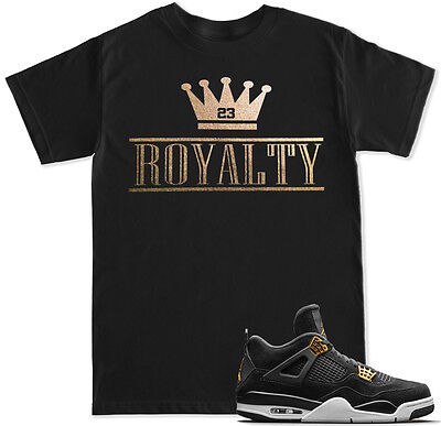 Royalty Crown Gold T Shirt To Match With Air Jordan Retro 4 Gold Royalty Shoes