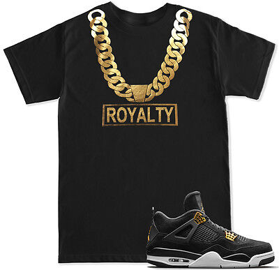 Gold Chain Royalty T Shirt To Match With Air Jordan Retro 4 Gold Royalty Shoes