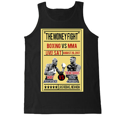 Mcweather Poster Mcgregor Mayweather Mma Boxing Fight Retro Gym Mens Tank Top