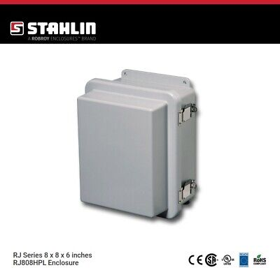 Stahlin Rj808hpl Electrical Control Panel Enclosure Box 8x8x6 Fiberglass Nema
