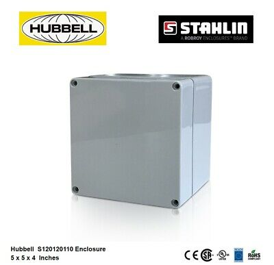 Hubbell S120120110 Electrical Enclosure Box 5x5x4 Polycarbonate Watertight 4x