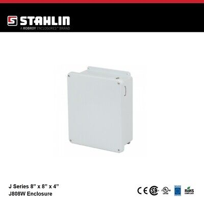 Stahlin J808w Electrical Control Panel Enclosure Box 8x8x4 Fiberglass Nema
