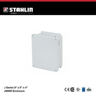 Stahlin J808w Electrical Control Panel Enclosure Box 8x8x4 Fiberglass Nema