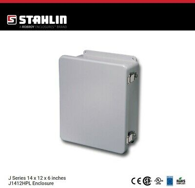 Stahlin J1412hpl Electrical Control Panel Enclosure Box 14x12x6 Fiberglass Nema