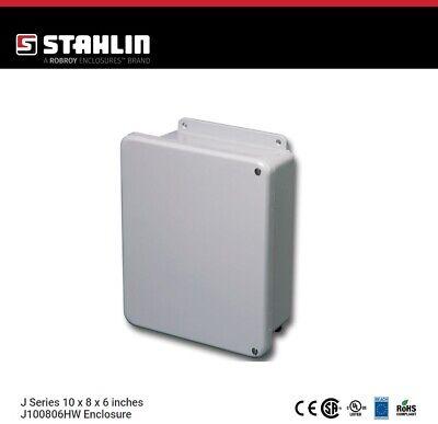 Stahlin J100806hw Electrical Control Panel Enclosure Box 10x8x6 Fiberglass Nema