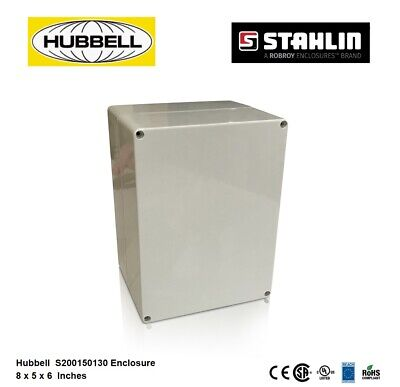 Hubbell Stahlin Electrical Enclosure Box 8x5x6 Hw-s200150130ww Light Gray