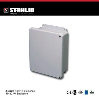 Stahlin J1412hw Electrical Control Panel Enclosure Box 14x12x6 Fiberglass Nema