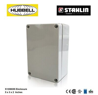 Hubbell S1208055 Electrical Enclosure Box 5x3x2 Polycarbonate Watertight 4x