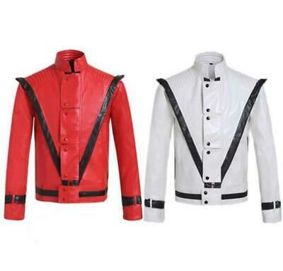 Michael Jackson Thriller Billie Jean PU Jackets boy modern dance cosplay costume - Michael Jackson Dance Costume