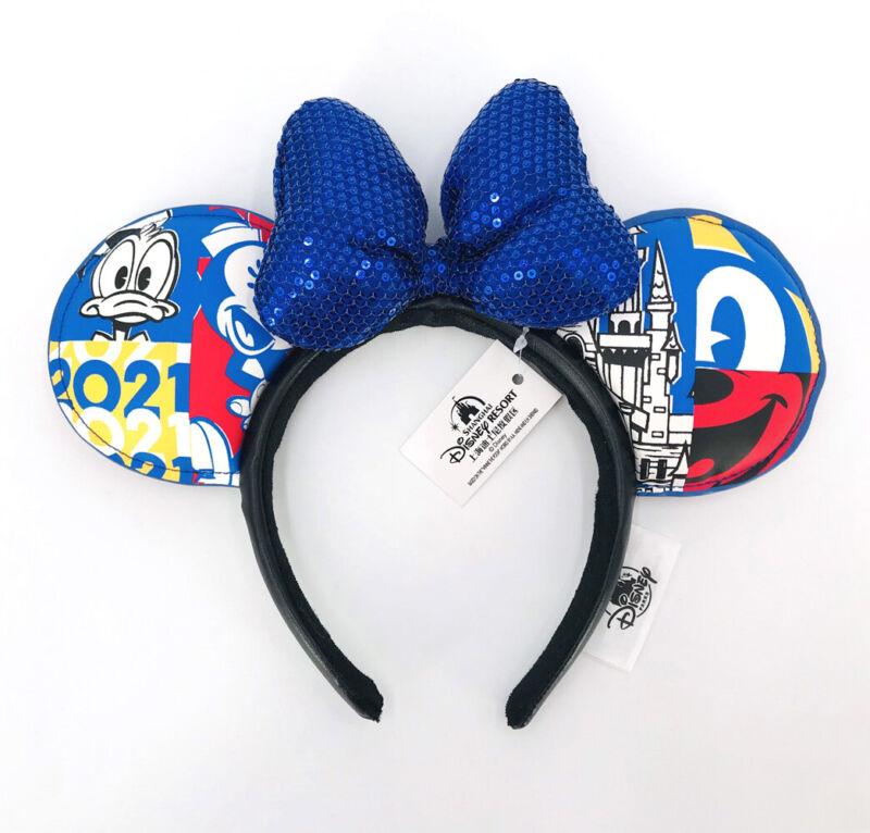 Disney Parks Donald Duck Disneyland 2021 Blue Mickey Mouse Minnie Ears Headband